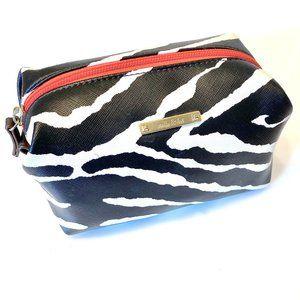 Stella & Dot Zebra Stripe Makeup Pouf Bag